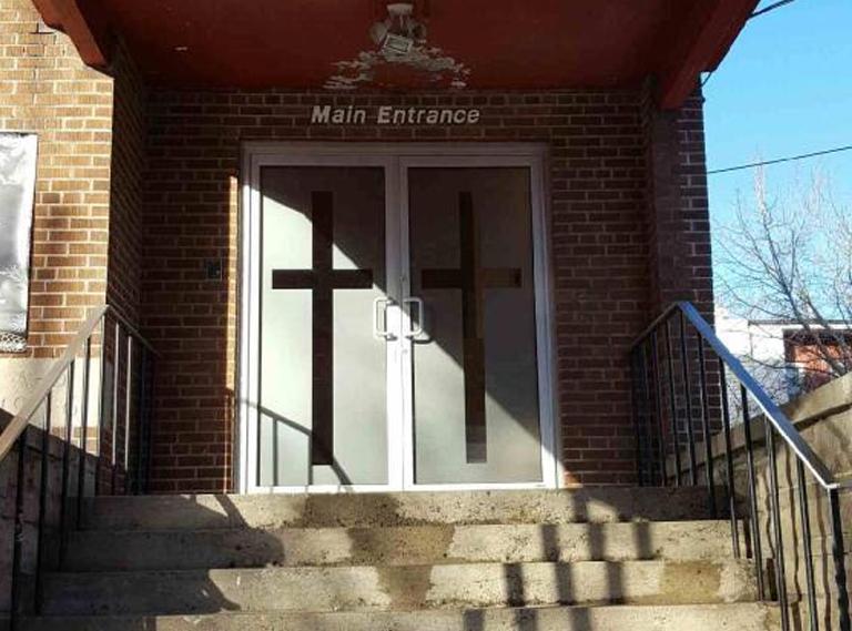 Pellicule décorative pour une église