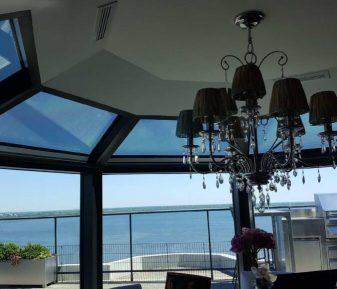 Pellicule solaire pour un penthouse