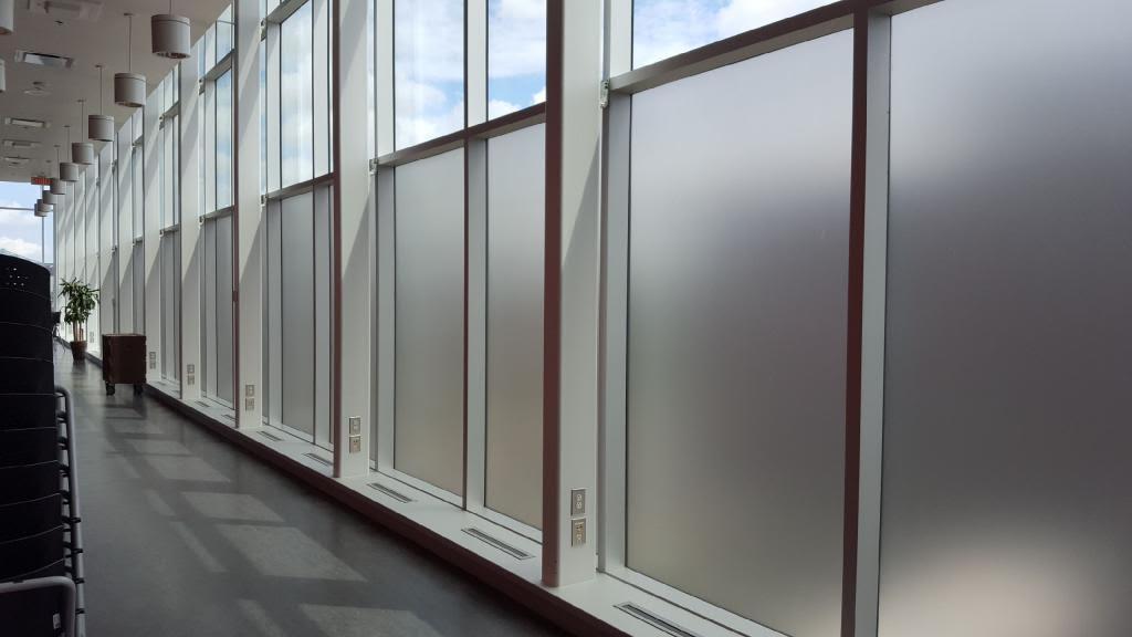 Mur de vitre / pellicule givrée