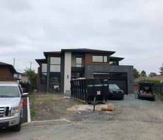 Pellicule solaire sur une maison