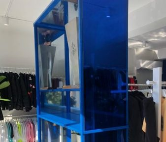 Pellicule bleu miroir
